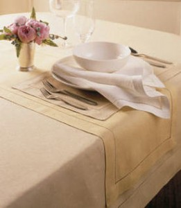 All table linens 10% off – tablecloths napkins and more!