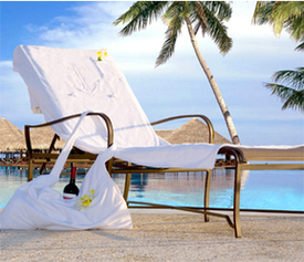 Pioneer Linens January White Sale Showcases Luxury Beach Towels!