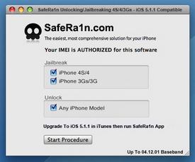 Jailbreak/Unlock iPhone 4S/4/3Gs iOS 5.1.1  New Baseband 12.04.01 With SafeRa1n