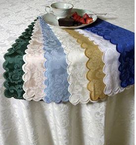 Custom Size Table linens from Home Treasures -Extra long, Extra wide